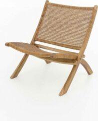 Bruine Perfecthomeshop Rotan loungestoel 77x65 cm – Retro Design – Duurzaam