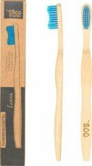 TBF - THE Boo Family The BOO family - Volwassene tandenborstel - bamboe - blauw - 4 st./pcs
