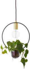 Gouden Bloomingville Hanglamp met plant – Gold, Metal - Ø30 cm x H38 cm