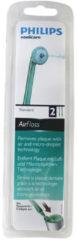 Philips Zahnbürste Zahnbürsten-Set (AirFloss Standard Aufsteckbürsten , 2 Stück) für Zahnbürste HX8012