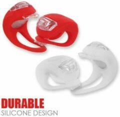 TrendX® Set Silicone LED Fietslamp / Fietsverlichting / Verlichtingsset Rood en Wit