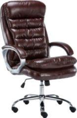 CLP XXL Bürostuhl VANCOUVER mit Kunstlederbezug I Drehstuhl mit max. Belastbarkeit bis zu 235 kg I Chefsessel mit Laufrollen I In verschiedenen Farben