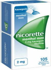 Nicorette Nicotinekauwgum Mint 2mg - 105 stuks