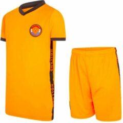 Nederland Oranje jongens voetbaltenue 21/22 - Holland tenue - Oranje jongens trainingsset - kids voetbaltenue - Oranje shirt en broekje - maat 116