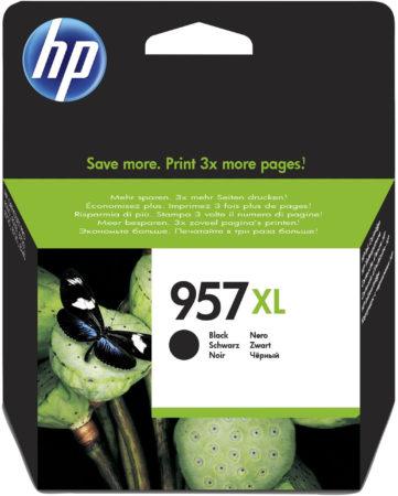 Afbeelding van HP 957XL originele high-capacity zwarte inktcartridge met gratis 2 maanden instant ink
