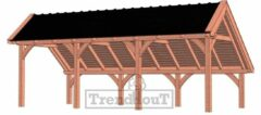 Van Kooten Tuin en Buitenleven Kapschuur de Hoeve XL 765x380 cm