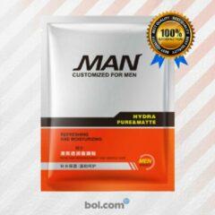 Witte MALEZO Premium Products Gezichtsmasker Mannen - Hydraterend masker - Anti Acne - Mee eters verwijderen - Stralende huid - Gezichtsverzorging mannen - Anti Aging - Acneverzorging - Sheet Mask - Cadeau voor man