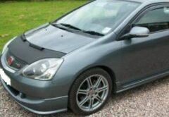 Universeel Motorkapsteenslaghoes Honda Civic 3 deurs / TypeR 2002-2004 zwart