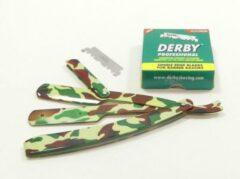 Guardian Beauty Barbermes - Shavette - Klassieke scheermes - Army + 100 Derby Professional scheermesjes