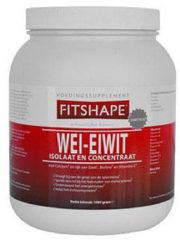 Fitshape - Wei eiwit - Sportvoeding 2000 gram - vanille
