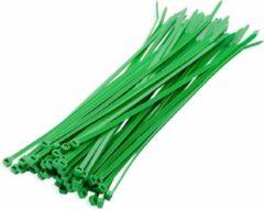 Bellatio Design 200x stuks kabelbinder / kabelbinders nylon groen 20 x 2,5 cm - bundelbanden - tiewraps / tie ribs / tie rips