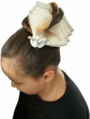 Jessidress Feestelijke haarclip met strass - Beige