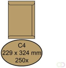 Envelop Quantore akte C4 229x324mm bruinkraft 250stuks