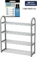 Grijze Storage solutions Confortime schoenen rek 4 tree - 58 x 56 cm