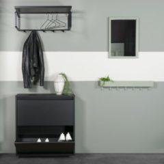 Zwarte Home24 Schoenenkast Meelin III, loftscape