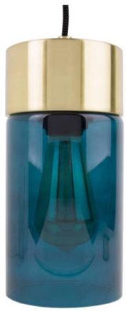 Afbeelding van Blauwe Leitmotiv Pendant lamp Lax blue glass, gold plated base