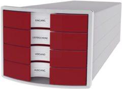HAN IMPULS 2.0 1012-17 Ladebox Lichtgrijs DIN A4, DIN C4 Aantal lades: 4