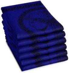 Blauwe DDDDD Minerva - Theedoek - Set van 6 - 60x65 cm - Blue
