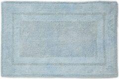 Blauwe Seahorse Mossa Badmat - 100% Katoen - Badmat (60x90 Cm) - Gentle Blue