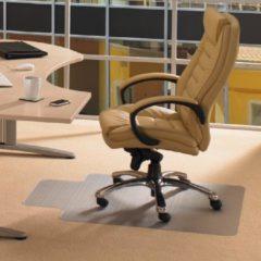 Transparante Floortex vloermat Computex voor tapijt met uitsparing formaat 51 x 25 cm formaat 120 x 90 cm