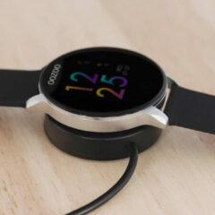 OOZOO Smartwatch Q00113 staal/rubber zilverkleurig-zwart 43 mm