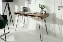 Interieurs online Bureau - Side table - Console acacia hout Model Haarspin 110 cm