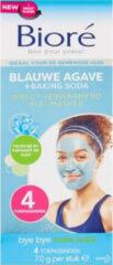 Bioré Blauwe Agave en Baking Soda Direct Verwarmend Klei-Masker 4 stuks