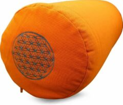 Groene Green Tree Candle Company Green Tree Yoga Bolster Oranje met Flower of Life