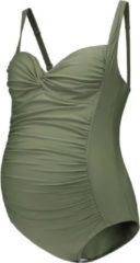 Prénatal Zwangerschapsbadpak Dames - Zwemkleding - Groen - Maat XL