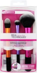 Real Techniques Original Collection Base Technique Essentials Set Essential Foundation Brush + Domed Shadow Brush + Multitask Brush + Drying Stand 1 S