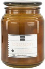 HEMA Geurkaars In Glazen Pot Ø10x14 Blossom (bruin)