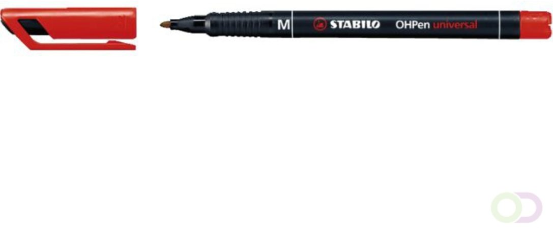 Afbeelding van Viltstift Stabilo OHP 843/40 rond rood 1mm