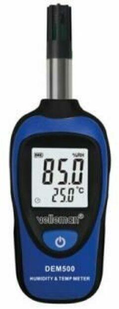 Velleman mini thermometer en vochtigheidsmeter