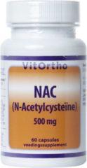 Vitortho NAC N-Acetyl cysteine 500 mg 60 Capsules