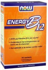 Now Foods, B12 energia istantanea, 2000 mcg, 75 pacchetti