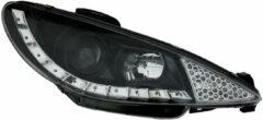 Autostyle Set Koplampen DRL-Look Peugeot 206 2002- incl. GTi 1999- - Zwart