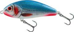 Blauwe Salmo Fatso Floating - Jerkbait - Bleeding Bleu Shad - 10cm - Roze