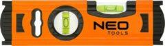 Oranje Neo Tools Mini Waterpas 0,5mm-m 3 Libellen 1,3mm Matteriaal Dikte