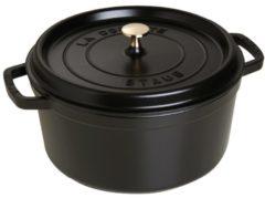 Cocotte, rund, schwarz, 28cm Staub schwarz