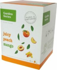 Zwarte Thee Perzik en Mango - Juicy Peach Mango - Garden Series Box (48 piramidebuiltjes)