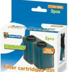 SuperFish AquaFlow Easy Click 100 Cartridge - Aquariumfilter - 2 St.
