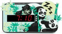 Groene Bigben Kinderwekker met Geluidseffecten & 3D cover - Panda