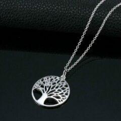 Van Santen Fashion Charm Jewelry Levensboom hanger met ketting verzilverd.