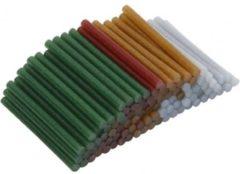 Creotime Lijmpistool vullingen, d: 7 mm, l: 10 cm, 100 stuks, kleuren assorti