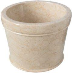 Creme witte Waskom Imso Lavabo Secchio Cream Marmer 40x30cm
