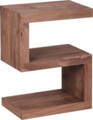 """Wohnling Beistelltisch MUMBAI Massivholz Akazie """"S"""" Cube 60 cm hoch Wohnzimmer-Tisch Design braun Landhaus-Stil Couchtisch"""