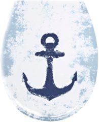 WC-Sitz 'Anker' Kleine Wolke weiß/blau