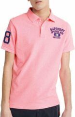Roze Superdry Classic Superstate S/S Polo Heren Poloshirt Maat L