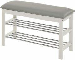Home Style Schoenenrek Sera 48 cm hoog in wit met grijs