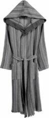 Antraciet-grijze Buldans Dunne badjas met capuchon. Adel. In 3 kleuren en 2 maten. Maat 1. - zwart